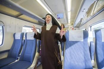La Santa recibirá a los viajeros de 'su tren' en el andén