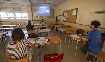 Imagen de una tutoría presencial realizada en los últimos días en una Comunidad Autónoma que ya se encuentra en fase 2.