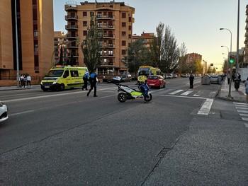 Dos heridos por un atropello en la Avenida Valladolid