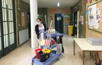 Luz verde a contratación de limpieza de colegios y edificios