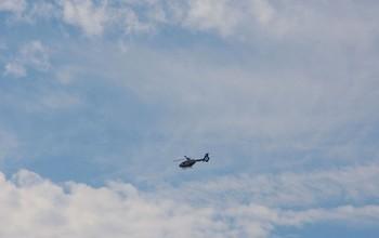 Fotografía de archivo de un helicóptero medicalizado de Sacyl.