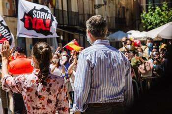 Los sorianos aclaman a los reyes de España en su visita