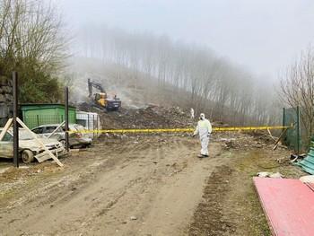 Continúa la búsqueda de trabajadores sepultados en Zaldibar