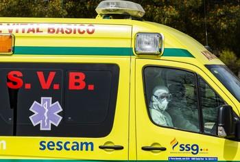 Imagen de una ambulancia de soporte vital básico