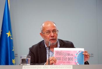 Francisco Igea, durante el Consejo de Gobierno.