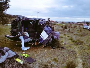 Un herido en un accidente en Arenas