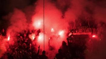 Aficionados del PAOK en un partido de 2015