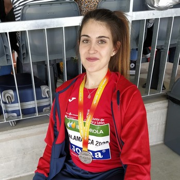 Laura Martín, plata en altura en el Nacional sub 23