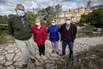 Domingo, Dominica, Teófila y Clemente, cuatro vecinos de Silos que vivieron el siniestro en primera persona