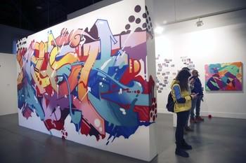 Una de las obras que se muestran en la Sala Amós Salvador de Logroño.