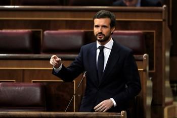 Casado carga contra Sánchez y pide el cese de Marlaska