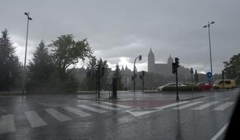 Tormenta del pasado domingo en Salamanca.