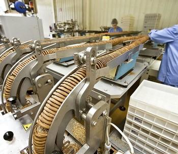 Imagen del interior de una empresa galletera de la Comunidad.