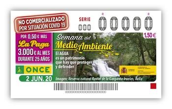 La ONCE dedica un cupón a la Reserva Natural de Iruelas