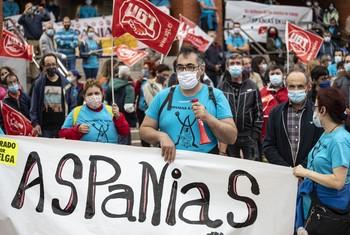 El comité de Aspanias denuncia 'un taller clandestino'