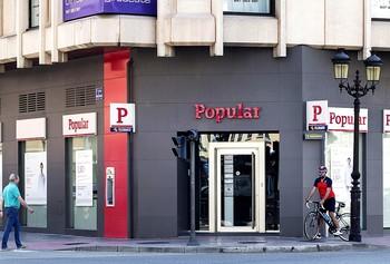 Antigua oficina del Banco Popular en la zona sur de Burgos.