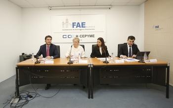 De i. a d., David García, Emiliana Molero, Isabel fono y Alfonso del Castillo.