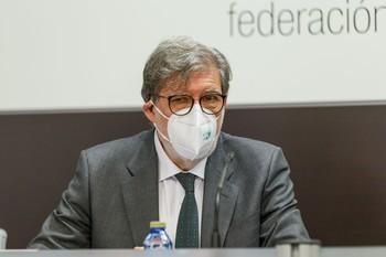 El presidente de la patronal, Santiago Aparicio.