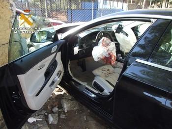 Estado en el que quedó el vehículo de la víctima.