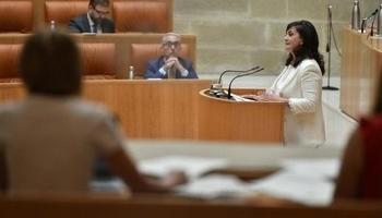 Concha Andreu en el Pleno del Parlamento de La Rioja, en una imagen de archivo