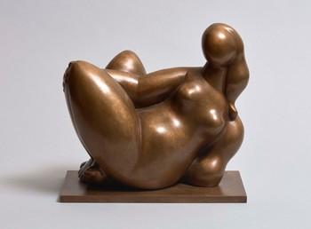 Escultura en bronce 'Lîle du Levant' (1981), del zamorano Baltasar Lobo, que puede verse en el expositor de la Galería Leandro Navarro en ARCO 2020.