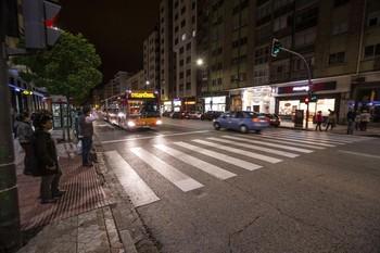 Los hechos ocurrieron de noche en la calle Vitoria.