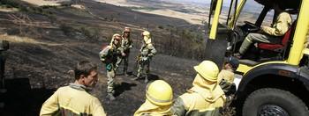 Bomberos forestales, durante una intervención