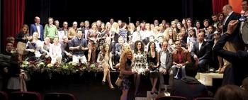 Foto de familia de premiados, organizadores y autoridades