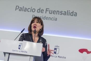 Blanca Fernández es la portavoz del Gobierno regional