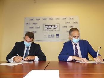 David Peña y Javier Martín Talegón firmaron la renovación del convenio