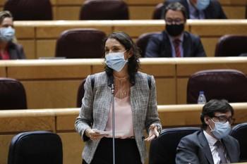 La ministra Maroto defiende los aranceles a EEUU este lunes