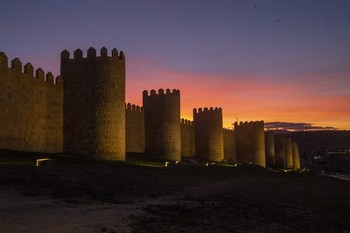 ¿Será el de la muralla de Ávila el mejor atardecer?