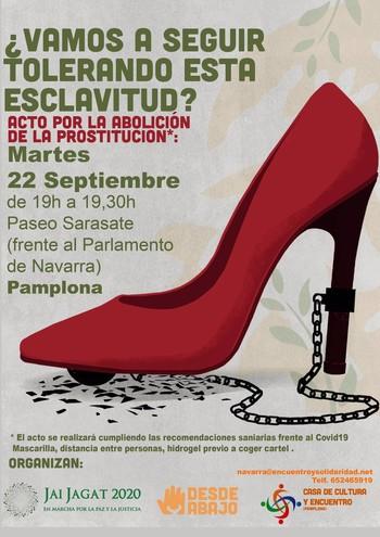 Concentración contra la prostitución el martes en Pamplona