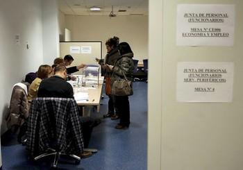 Imagen de archivo de las elecciones sindicales en la Administración autonómica.