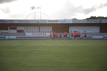 Jugadores entrenando en el campo de Varea, en una imagen de archivo.