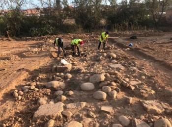 Imagen de los trabajos realizados en el yacimiento arqueológico.