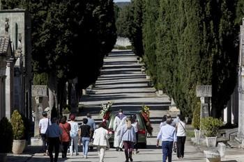 Funeral reciente en el Cementerio de San José.