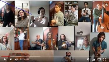 La Escuela de Música homenajea a los héroes del coronavirus