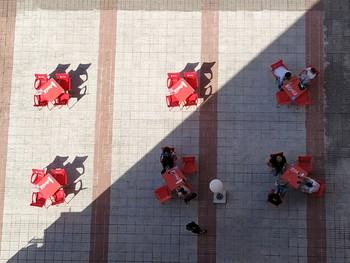 Una terraza en Valladolid.