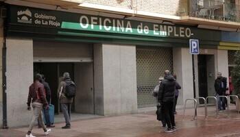 Oficina de empleo en Logroño.
