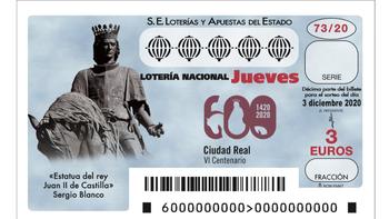 El VI Centenario de Ciudad Real, en la Lotería Nacional
