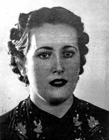 Antonia Castillo, en una imagen de 1940, recién llegada a Burgos.