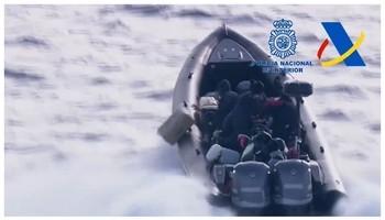 La Policía intercepta una narcolancha con 2 toneladas de hachís