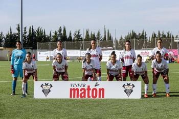 Alineación el Fundación Albacete en su primer partido.