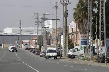 Empresas en el polígono industrial La Portalada.