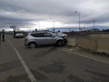 Aparatoso accidente en la variante de Soria