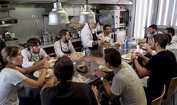 Almuerzo de los empleados del Culler de Pau.