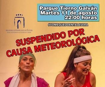 Talavera suspende hoy la obra de teatro por posibles lluvias