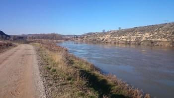 El río Ebro, en las proximidades de Fuenmayor.