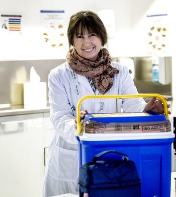 La coordinadora de trasplantes en Enfermería en el HUBU, María Amor Hernando, en una imagen de archivo.